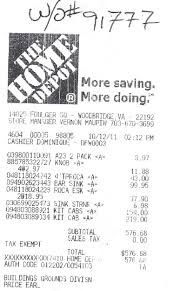 Images Of Home Depot Receipts Google Search Home Depot Receipts Image