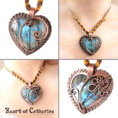 Heart of Catherine Labradorite Pendant by *kry1