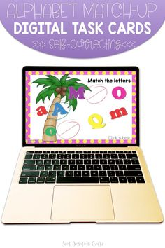 Whether you're in school or teaching remotely, these colorful alphabet match-up coconut digital task cards are perfect for beginner learners. The cards are bright and engaging with self-checking audio and visual clues, making them perfect for independent practice and the familiar coconut tree is something that all our young learners love in the first weeks of school! Teaching Activities, Teaching Ideas, Back To School Crafts, Letter Matching, Easy Arts And Crafts, Kindergarten Crafts, Letter Recognition, Beginning Of School, Teacher Hacks