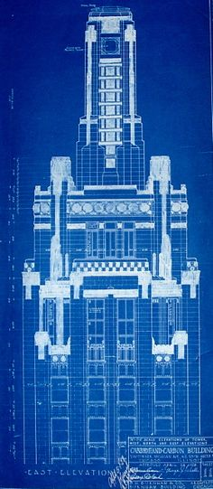 Chrysler building blueprint drafting pinterest chrysler chicagos carbide and carbon building the lost blueprints architech malvernweather Image collections