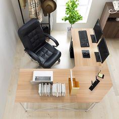 "Buy Soges 59"" x 59"" Large L-shaped Desk Computer Desk Corner Desk Office Desk Computer Table, White Oak CS-ZJ02-MO - Furniturehomdec.com ✓ FREE DELIVERY possible on eligible purchases"