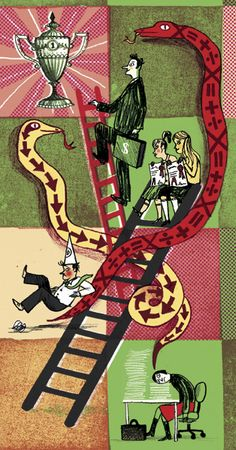 Snakes and Ladders Retro Toys, Ladders, Snakes, Childrens Books, Ink, Contemporary, Tattoos, Board, Illustration