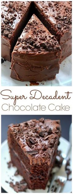 """The BEST Chocolate Fudge Cake! Easy to make, and sure to be your new """"go to"""" chocolate cake recipe."""