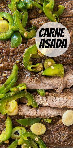 Homemade Carne Asada recipe from RecipeGirl.com #homemade #mexican #carne #asada #steak #recipe #RecipeGirl Healthy Recipes On A Budget, Healthy Dinner Recipes, Mexican Food Recipes, Appetizer Recipes, Vegetarian Recipes, Spicy Recipes, Easy Recipes, Grilling Recipes, Cooking Recipes
