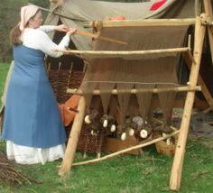 Weaving on a ww loom. By Jennifer A. Bray