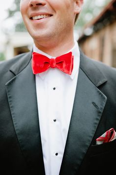 red bow tie // photo by Kaitie Bryant Photography // View more: http://ruffledblog.com/the-notwedding-athens/