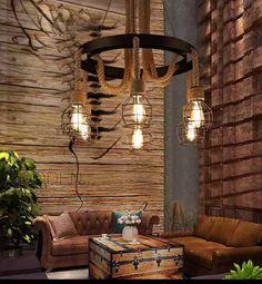 Find Cheap Designer Furniture Now Hookah Lounge Decor, Vintage Industrial, Track Lighting, Chandelier, House Design, Ceiling Lights, Rustic, Interior, Home Decor