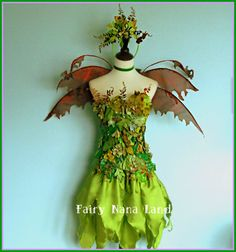 fairy costume woodland faerie earth fairy adult size large on etsy 33500 - Green Fairy Halloween Costume