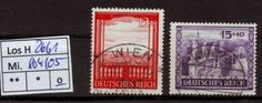 Los H2661: Deutsches Reich Mi. 804/05, gest. Listing in the Germany & Colonies,Europe,Stamps Category on eBid From meumann