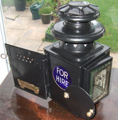 Rare 'Dependence' taxi meter oil lamp circa 1910 - 1915. Made by J & R Oldfield Ltd., Birmingham, England.