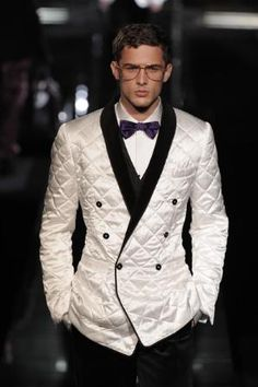 interesting....AW09 Dolce & Gabbana Quilted Tuxedo....I think I like it a lot