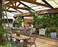 Shoreditch House inspired conservatory space