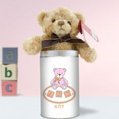 Personalised Teddy in a Tin - It's a Boy Unique Baby Gifts, New Baby Gifts, Gifts For Boys, Boy Or Girl, New Baby Products, Personalized Gifts, Tin, Congratulations, Teddy Bear