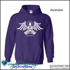Ascension Buddha Angel Enlightenment New Age Hoody Sweatshirt purple
