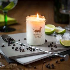 Scent No 1 Gin & Tonic essential oil blend soy wax vegan candle, hand poured in a stylish glass jar with approximately 60 hour burn time. Vegan Candles, Soy Wax Candles, Scented Candles, Glass Jars, Candle Jars, Container Dimensions, Gift For Lover, Lovers Gift, Essential Oil Blends