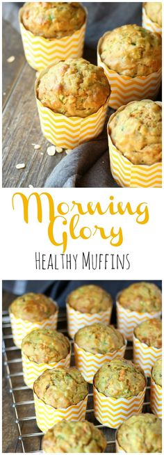 Make your mornings a lot simpler with a batch of these delicious hearty and healthy Morning Glory Muffins! gardeninthekitche...