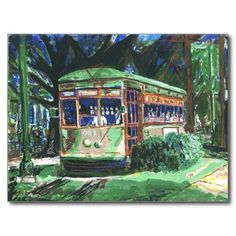 The famous New Orleans Street Car Post Cards sold on the web by Fig Street Studio. Sold world wide.