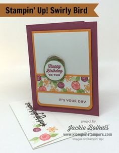 Swirly Bird stamp set--just another way you can use it.  So many things you can do with it!