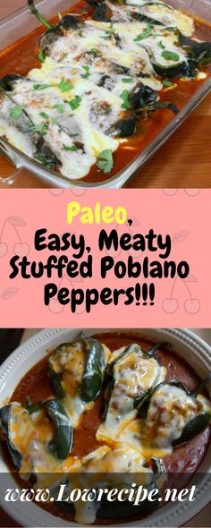 Paleo, Easy, Meaty Stuffed Poblano Peppers!!! - Low Recipe