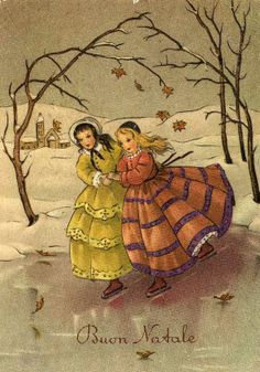 "Miss Jane: Christmas Cards 1958....reminds me of a scene out of ""Little Women""......"