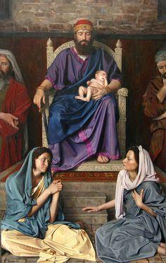Judge of Salomon by Slava Groshev {c.2004} ~ Biblical art