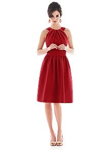 Alfred Sung Style D494    #red #bridesmaid #dresses