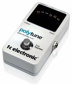 TC Electronic PolyTune Poly-Chromatic Tru-Bypass Pedal Tuner by TC Electronic. $70.36. Polytune is a brand new pedal from TC Electronic that utilizes patented polychromatic tuning technology to show guitar and bass players an entirely new way to tune their instruments. With the addition of strobe and needle modes, players will enjoy extremely accurate tuning as well as a true bypass circuit. Let the Tuninig commence!Tuning used to be a necessary evil. The last barrier before you...