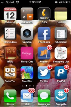 The home screen of my phone tells it all - from my calendar and reminders, to managing my Facebook pages, Pay Pal payments, online catalog, shipping and sales calculators...everything I need to effectively manage my time is literally right at my finger tips...Love it! #mobilelifeofmoms #sociallensresearch
