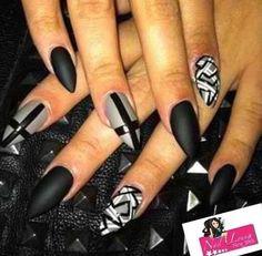 Matte black & gray