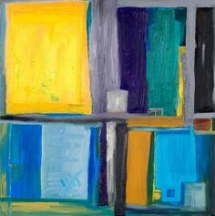 quattro yellow Mischtechnik auf Leinwand ( Originalbild) 70 x 70 cm | KunstiX