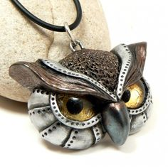 Angry Owl Necklace