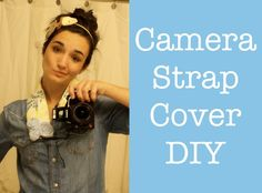 DIY Camera Strap Cover. Want to do this for my guitar strap.