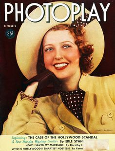 Jeanette MacDonald on the cover of Photoplay's September 1938 edition.