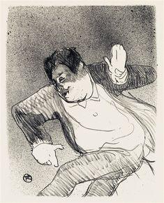 Henri de Toulouse-Lautrec, Caudieux - Small Casino, 1893, Lithograph
