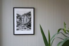 Instant Download Landscape drawing Wall Decor idea for home | Etsy Black And White Painting, Black White Art, Landscape Drawings, Landscape Art, Norway Landscape, Unique Wall Decor, Charcoal Drawing, Painting & Drawing, Original Artwork