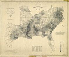 Map of the Last U.S. Slave Census 1860 - Retronaut