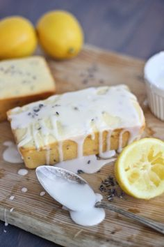 Lemon Lavender Greek Yogurt Pound Cake | Bake Your Day.  I would add the doTERRA lavender and lemon oil to this recipe to make it extra special.  Ask me how to get them at mydoterra.com/10112