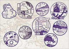 鐵道印章復刻明信片