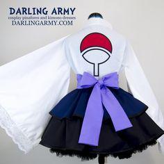 Sasuke Naruto Shippiden Cosplay Kimono Dress Wa Lolita Skirt Accessory | Darling Army