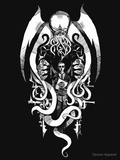 Hp Lovecraft, Lovecraft Cthulhu, Cthulhu Tattoo, Cthulhu Art, Call Of Cthulhu Rpg, Arte Horror, Horror Art, O Kraken, Necronomicon Lovecraft