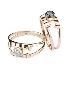 The Vampress Engagement Ring: $800; bittersweetsny.com #weddingring #nontraditionalbride #engagementring