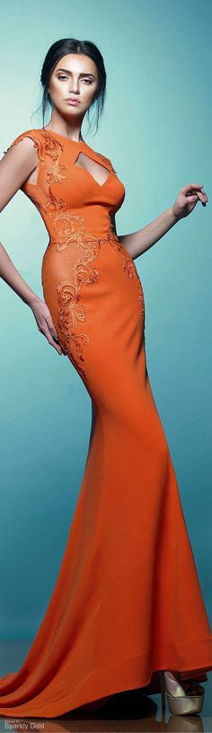 Saiid Kobeisy S/S 2015. I want this dress!! My fave color