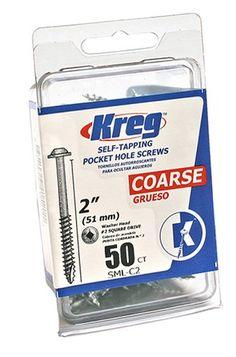 Kreg SML-C2 2-Inch Washer Head #8 Coarse Pocket Screws, 5...