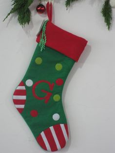 Gift socks ( wool red with white edges )