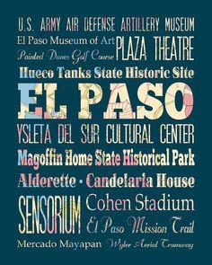 ~El Paso, Texas Typography~ `