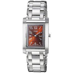 Fendi Women's F775320 'Loop Rectangle' Dial Swiss Quartz Watch