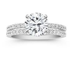 This is def my DREAM ring! Round diamond skinny band wedding set!! LOVE love love!!!