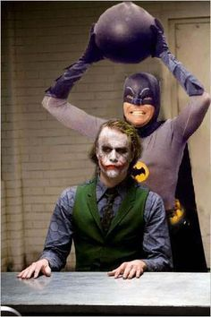 The dark knight - 60's #batman #joker #humor #geek