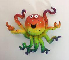 Wall HangingWhimsical  Octopus SculptureGlow in the Dark