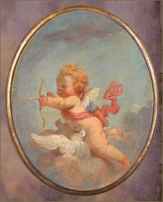 "Jean-Honoré Fragonard ""Day"" 18th century  Plum leaves"